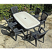 Nardi Toscana 165cm Ravenna Table with Kappa Chairs in Anthracite