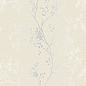 Precious Metals Orabella Wallpaper - Pearl - Arthouse 673402