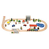 Bigjigs Rail BJT011 Village Train Set