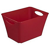Tesco 24L Storage Box With Handles -  Red
