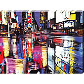 The Neon Lights of Times Square Large Canvas Print