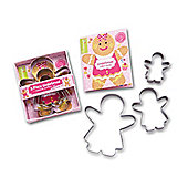 Cooksmart Kids 3 Piece Gingerbread Girl Cookie Cutter Set