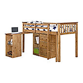 Rustic Retreat Milo Mid Sleeper Sleep Station Bunk Bed - Antique Waxed Pine