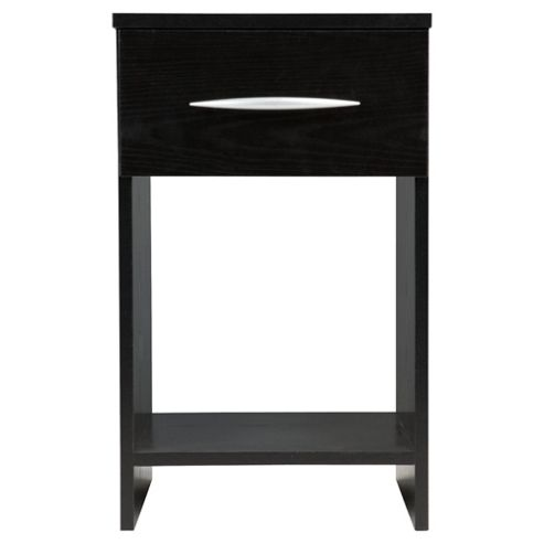 Ashton 1 Drawer Bedside Table, Black