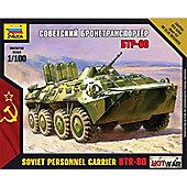 Zvezda 1/100 Soviet Personnel Carrier BTR-80 #