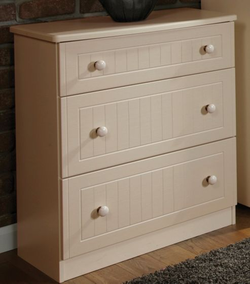 Welcome Furniture Coniston 3 Drawer Deep Chest - Cream