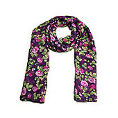 Purple Ditsy Floral Print Scarf