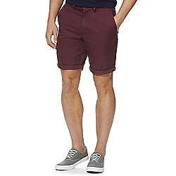 F&F Chino Shorts Waist 34 Burgundy