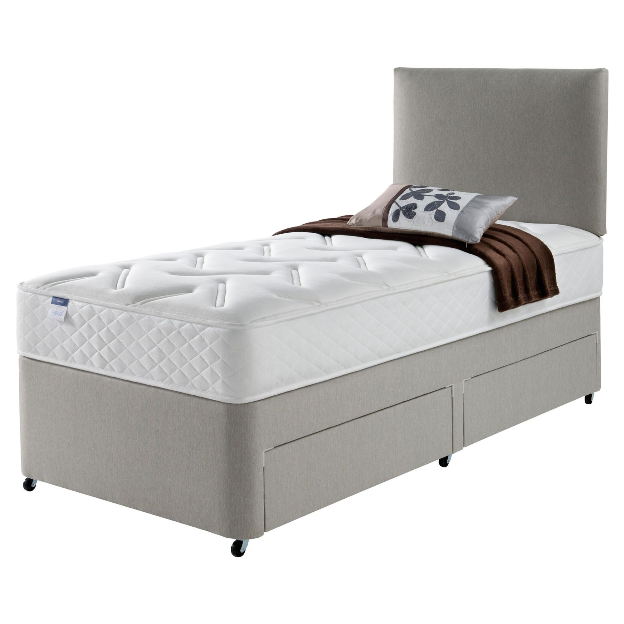 Home And Garden Furniture Hush Charleston Luxury Pocket Double 2 Drawer Divan Bed Special
