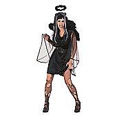 Rubies Fancy Dress - Black Marabou Halo