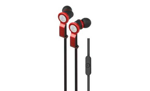 Beacon Perseus In-Ear Earphones with Mic & Remote - Red/Black