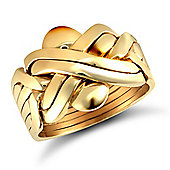 Jewelco London 9ct Solid Gold hand assembled 6 Piece Puzzle Ring