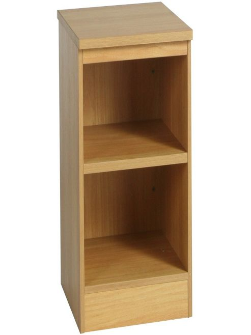 Enduro Two Shelf Narrow Bookcase - Classic Oak