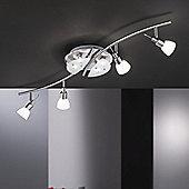 Paul Neuhaus Bow Eight Light Bar Spotlight - Steel