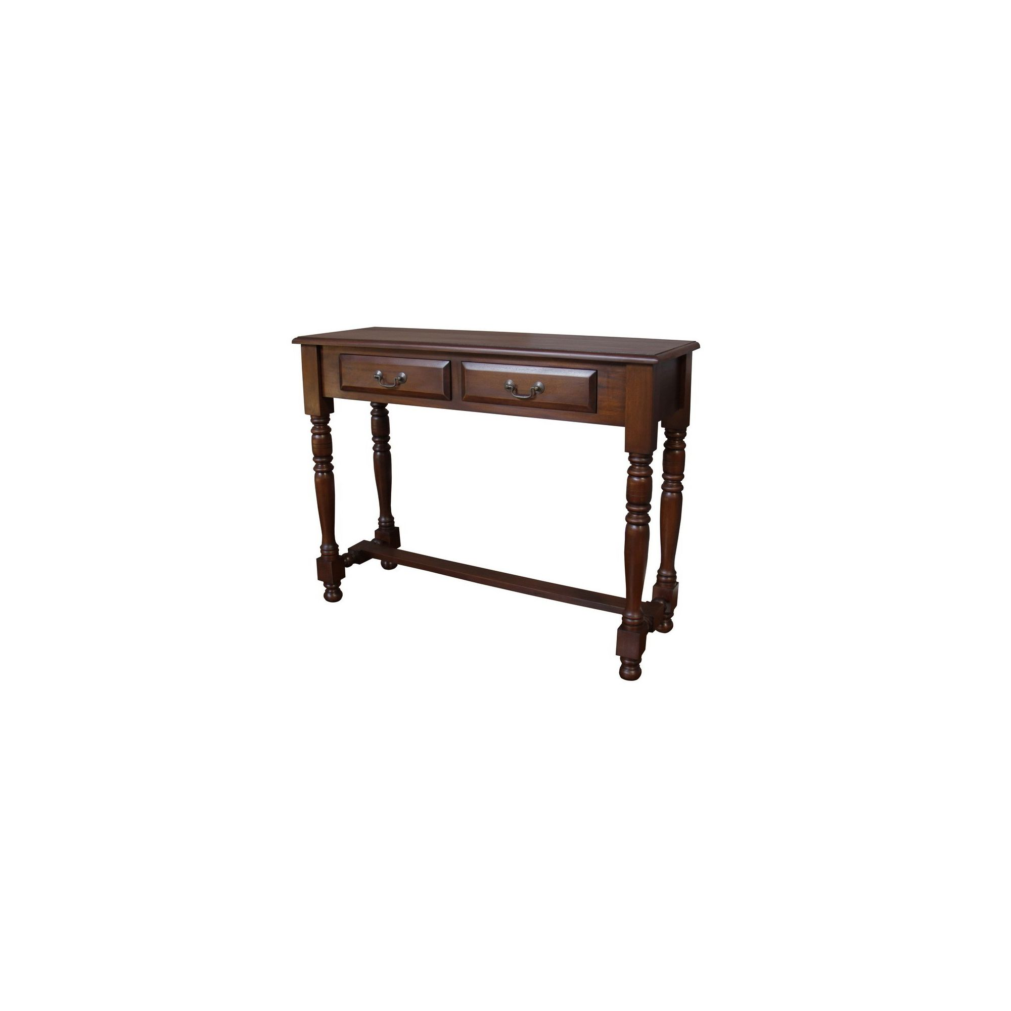 Lock stock and barrel Mahogany 2 Drawer Hall Table with Wooden Knob Handles in Mahogany at Tesco Direct