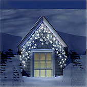 9.5m/31ft Set of 400 Frosted Ice White Multifunction Icicle LED Lights