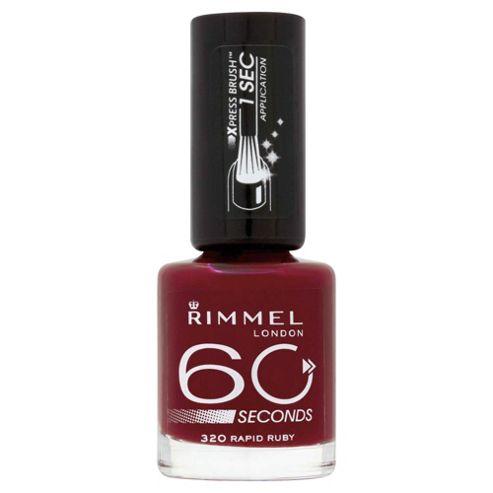 Rimmel 60 Seconds Nail Polish Rapid Ruby