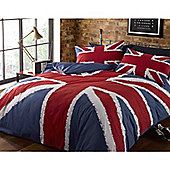 Rapport Rock N Roll Union Jack King Quilt Set Navy