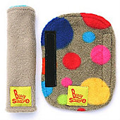 Buggy Snuggle Pebble Fleece Strap Covers (Bright Bubbles)