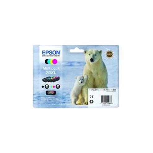 Epson Polar Bear 26XL MultiPack Magenta Claria Premium Ink Cartridges Black/Cyan/Magenta/Yellow (RF) for Expression Premium