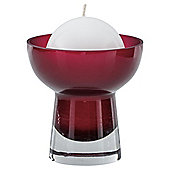 Ball Candle Holder & Candle Red