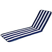 Resol Palamos Sun Lounger Cushion ONLY in Blue / White stripe