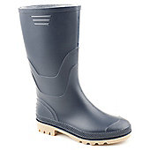 Brantano Ladies Bliss 3 Blue Wellington Boot - Blue
