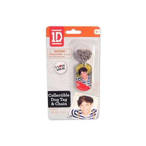 Louis Dog Tag & Chain - One Direction - Golden Bear