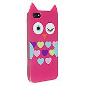 My Doodles iPhone 5/5S Character TPU Case Owl (Pink)