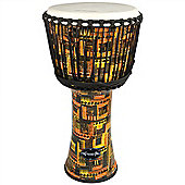 "World Rhythm 10"" Synthetic Orange Djembe Drum"