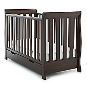 Obaby Lincoln Mini Sleigh Cot Bed - Walnut