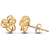 Jewelco London 9ct Solid Gold Knot design Studs