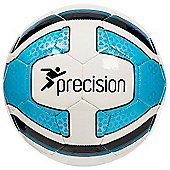 Precision Santos Mini Training Ball - White/Cyan Blue/Black