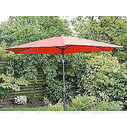 Henley 3m Crank And Tilt Garden Parasol Red