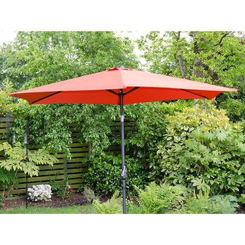 buy henley 3m crank and tilt garden parasol red from our. Black Bedroom Furniture Sets. Home Design Ideas