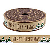 Merry Christmas Tree Gift Ribbon