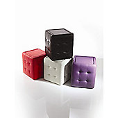 Wilkinson Furniture Qube Pouffe - Purple