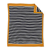 Mothercare Whale Bay Stripe Knitted Blanket