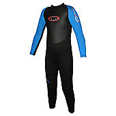 TWF Full wetsuit 2.5mm Black/Blue Age 14/15