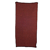 Ian Snow Checked Red Traditional Rug - Runner 90 cm x 180 cm (2 ft 11 in x 5 ft 10 in)