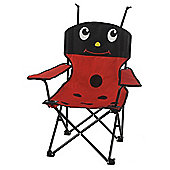 Tesco Kids' Folding Camping Chair, Ladybird