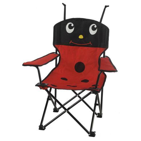 Tesco Kids' Folding Camping Chair, Ladybird