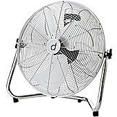 "Andrew James 18"" High Velocity Floor Fan in Chrome"