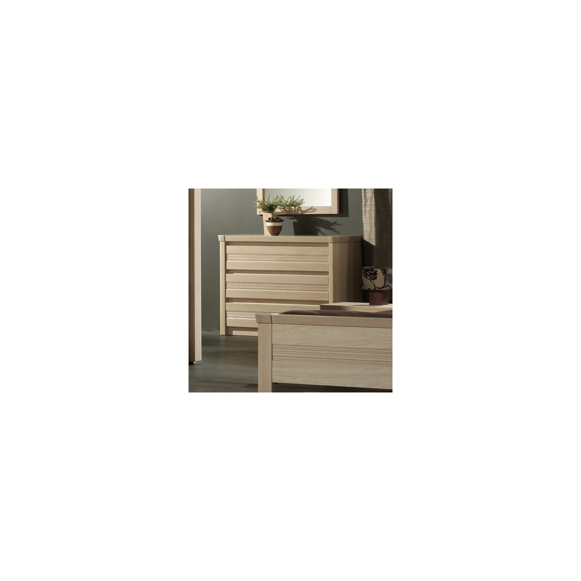 Sleepline Mundo 3 Drawers Chest - White Mat Lacquered at Tesco Direct