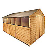 BillyOh 20 12 x 8 Rustic Overlap Apex Shed