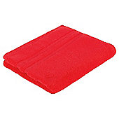 Tesco 100% Combed Cotton Face Cloth - Red