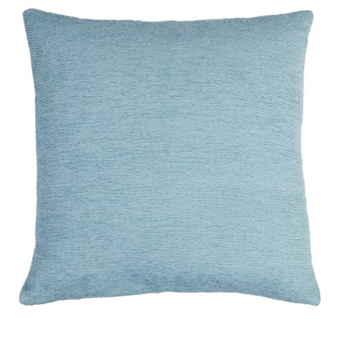 buy duck egg chenille cushion from our cushions range tesco. Black Bedroom Furniture Sets. Home Design Ideas