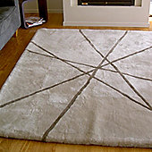 Bowron Sheepskin Shortwool Design Lines Rug - 300cm H x 200cm W x 1cm D