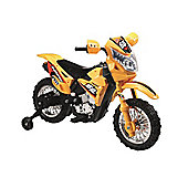 6V Off Road Ride On Motorbike Yellow