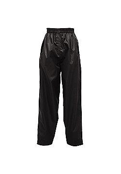 Regatta Kids Pack It Waterproof Overtrousers - Black